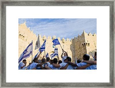 Jerusalem Day Framed Print by Kobby Dagan