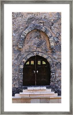 Jerusalem Doorway Framed Print