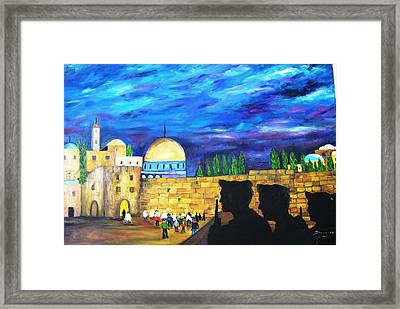 Jerusalem Framed Print by Doris Cohen