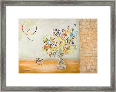 Jerusalem Flowers Framed Print by Hanna Fluk