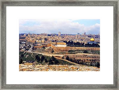 Jerusalem From Mount Olive Framed Print