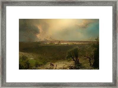 Jerusalem From The Mount Of Olives Framed Print