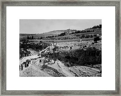 Jerusalem, Jewish Funeral, Photograph Framed Print by Everett