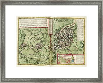 Jerusalem Framed Print by Library Of Congress, Geography And Map Division