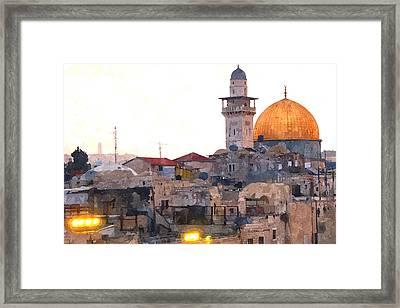 Jerusalem Lights Framed Print