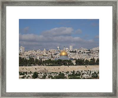 Jerusalem Old City Framed Print