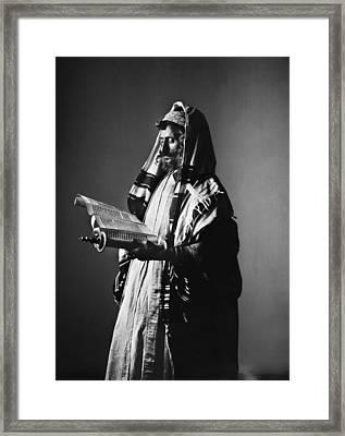 Jerusalem Rabbi Framed Print by Granger