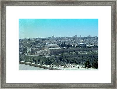 Framed Print featuring the photograph Jerusalem by Tony Mathews