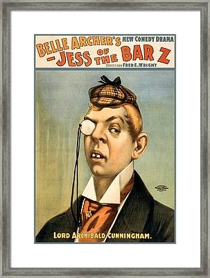 Jess Of The Bar Z Framed Print by Aged Pixel