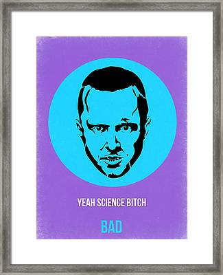 Jesse Breaking Bad Poster 1 Framed Print by Naxart Studio