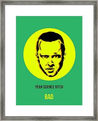 Jesse Breaking Bad Poster 2 Framed Print by Naxart Studio