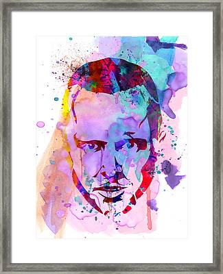 Jesse Breaking Bad Watercolor Framed Print