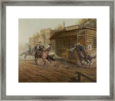 Jesse James Bank Robbery Framed Print by Gregory Perillo