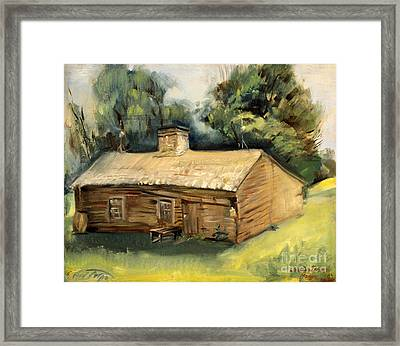 Jesse James Home 1940 Framed Print