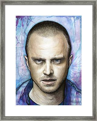 Jesse Pinkman - Breaking Bad Framed Print by Olga Shvartsur