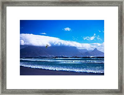 Jesse - Redbull King Of The Air Cape Town - Table Mountain  Framed Print by Charl Bruwer