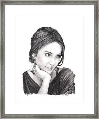 Jessica Alba Framed Print by Rosalinda Markle