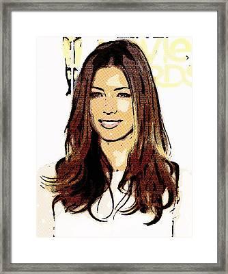 Jessica Biel Framed Print