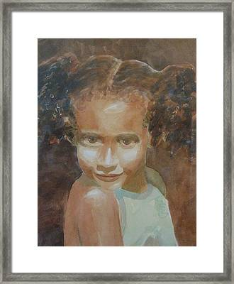 Framed Print featuring the painting Jessica by John  Svenson