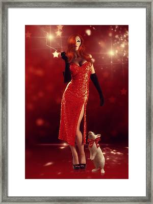 Jessica Rabbit Framed Print by Cindy Grundsten
