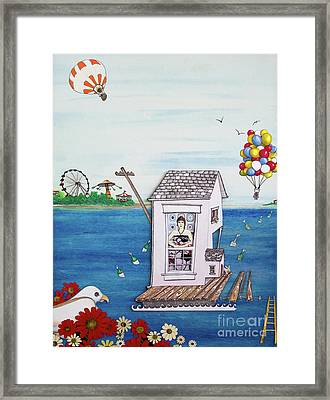Jessica's Houseboat Framed Print
