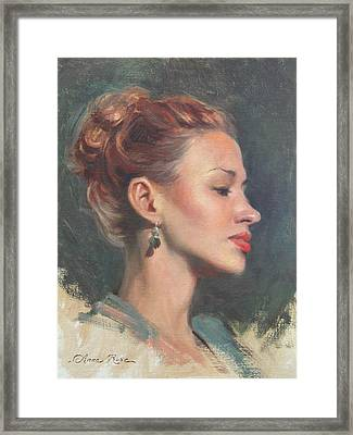 Jessie In Profile Framed Print by Anna Rose Bain