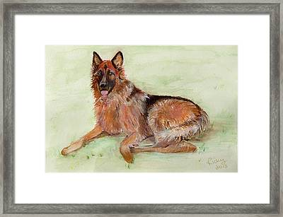 Jessie-painting Framed Print by Veronica Rickard