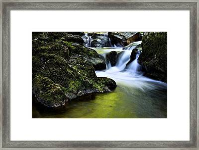 Jessup River Waterfall Photographic Art Framed Print
