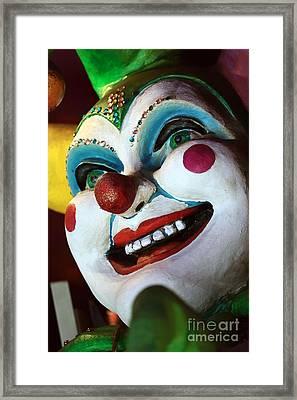 Jester Always Smiles Framed Print by John Rizzuto