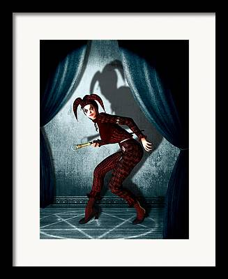 Jester Mixed Media Framed Prints
