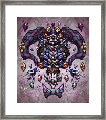 Jester God Framed Print by David Bollt