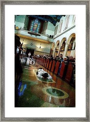 Jesuit Ordination Framed Print