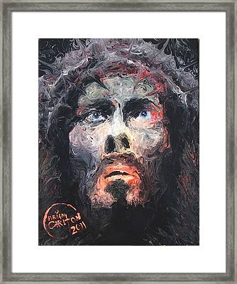 Jesus 002 Framed Print by Brian Carlton