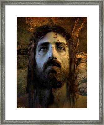 Jesus Alive Again Framed Print by Ray Downing