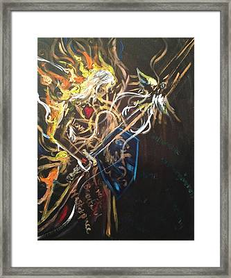 Jesus All Consuming Fire Framed Print by Kristen Lasher