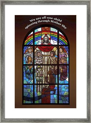 Jesus And Children Framed Print by Sally Weigand
