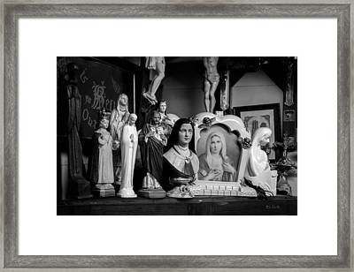 Jesus And Mary At The Curio Shop Framed Print by Bob Orsillo
