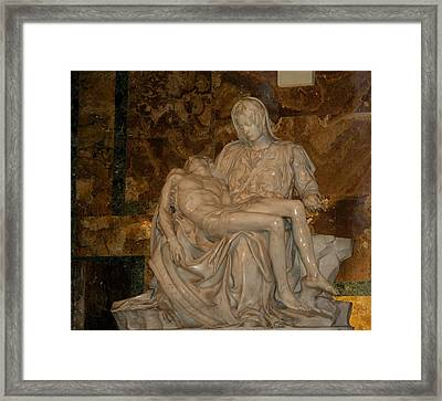 Jesus And Mary Framed Print by Bonita Hensley