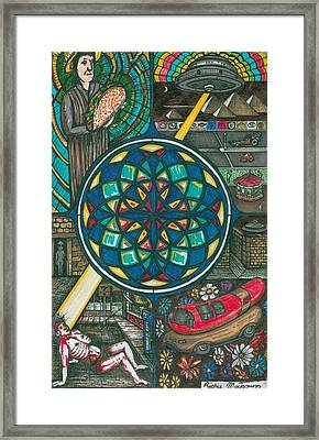 Jesus And The Hotdog Framed Print by Richie Montgomery