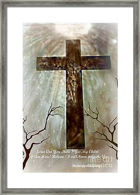Jesus Are You There Framed Print by Sherri  Of Palm Springs