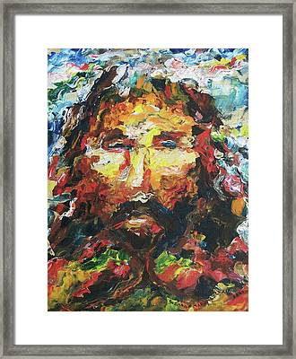 Jesus Are You There Framed Print by Suzanne  Marie Leclair