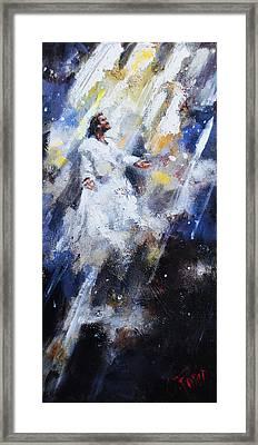 Jesus Ascending Framed Print