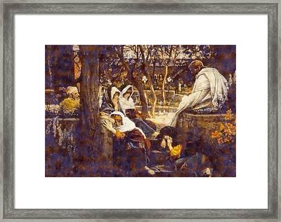 Jesus At Bethany Framed Print