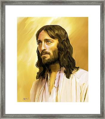 Jesus Cares Framed Print