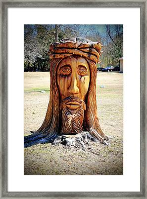 Jesus Carving Framed Print