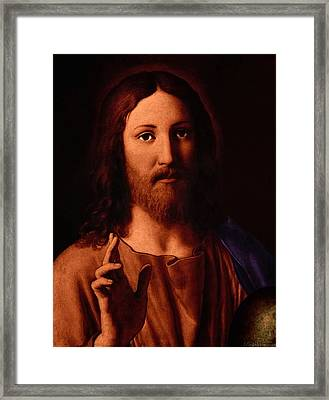 Framed Print featuring the digital art Jesus Christ by A Samuel