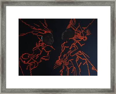 Jesus Christ And His Mother Mary On Calvary Framed Print by Gloria Ssali
