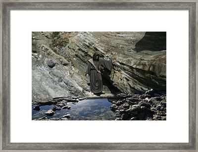 Jesus Christ At The Pond Framed Print