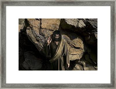 Jesus Christ- Be Blessed And Prosper Framed Print by Acropolis  De Versailles