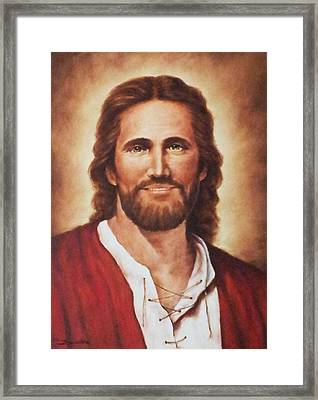 Jesus Christ Framed Print by Bryan Ahn